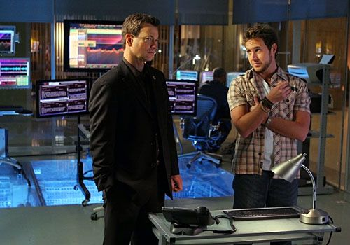 "Gary Sinise and AJ Buckley in ""CSI: NY"""