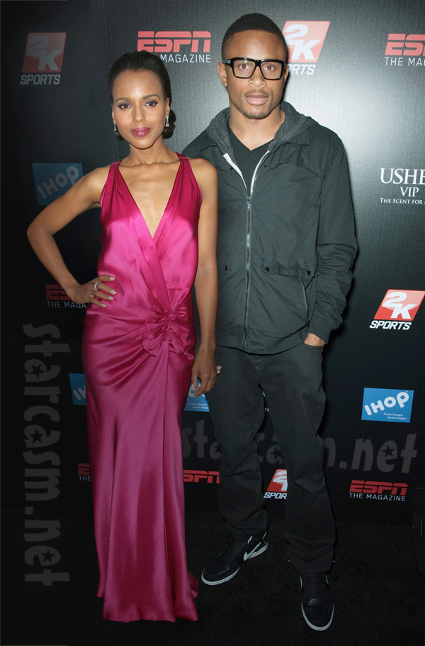 Nnamdi Asomugha and his wife Kerry Washington