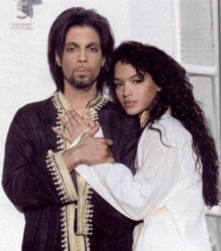 Young Mayte Garcia with Prince