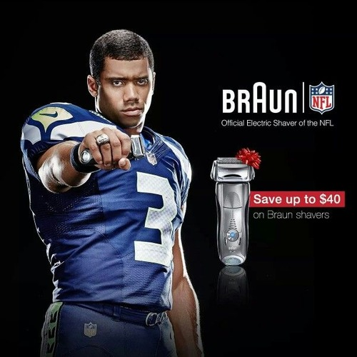 Russell Wilson in Braun ads
