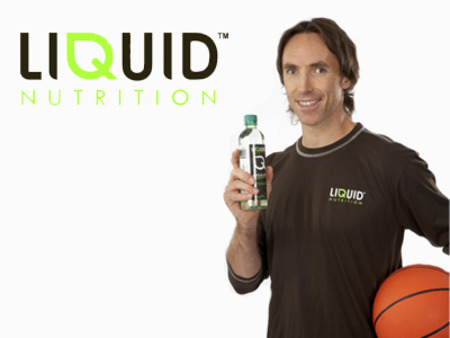 Steve Nash in Liquid Nutrition ads