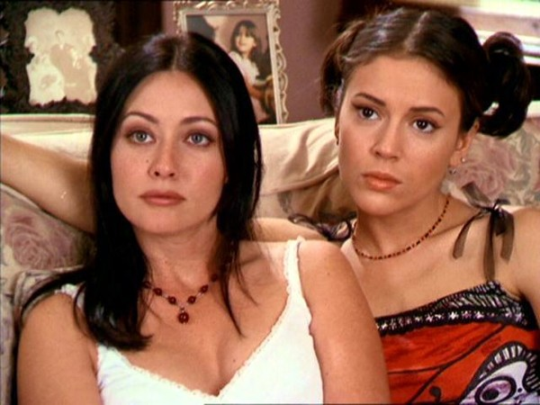 "Shannen Doherty and Alyssa Milano in ""Charmed"""