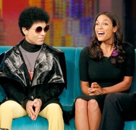 Rosario Dawson and singer Prince