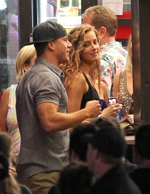 Channing Tatum and Amber Heard flirting