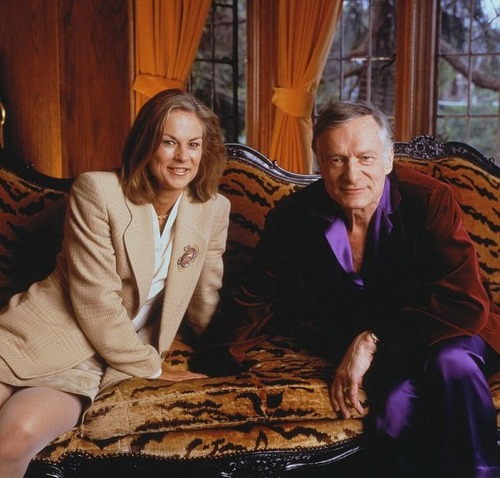 Christie Hefner and her father Hugh Hefner