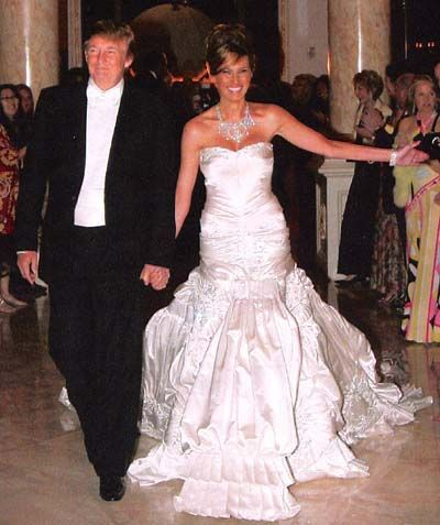 Donald Trump and Melania Knauss wedding price