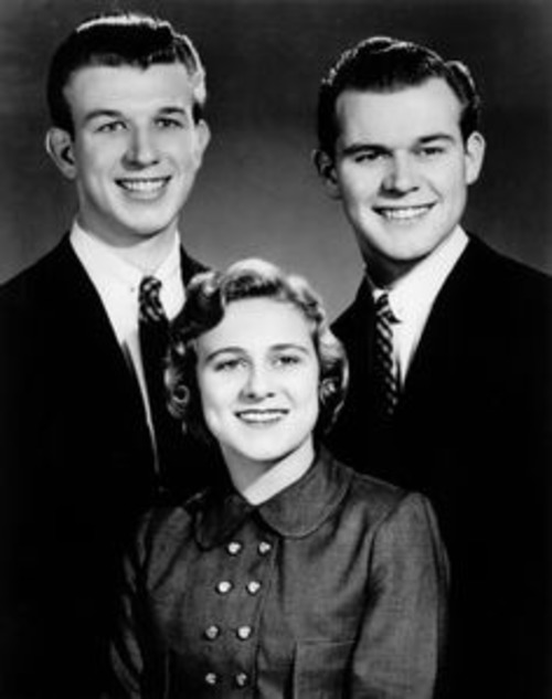 Bill Gaither, sister Mary Ann and brother Danny