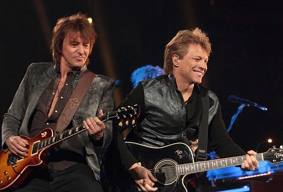 Richie Sambora (left) and Jon Bon Jovi
