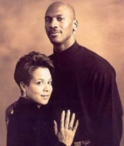 Young Michael Jordan and his ex-wife Juanita Vanoy