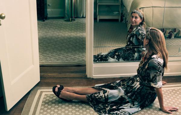 Miuccia Prada at home