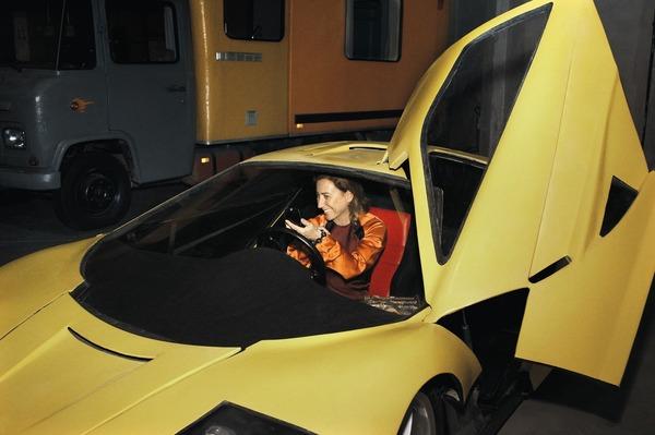 Miuccia Prada car