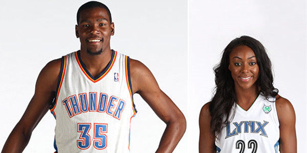 Monica Wright and her ex-fiance Kevin Durant