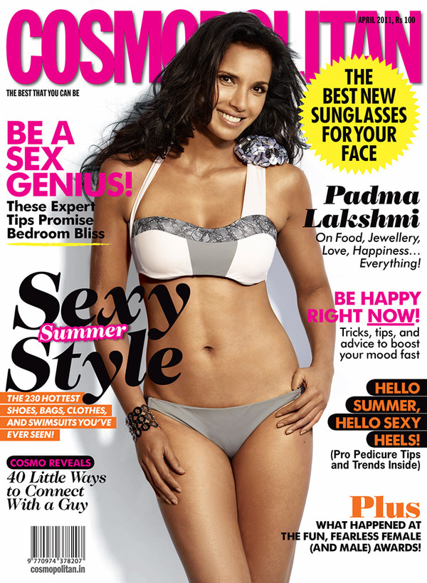 "Padma Lakshmi on the cover of ""Cosmopolitan"""