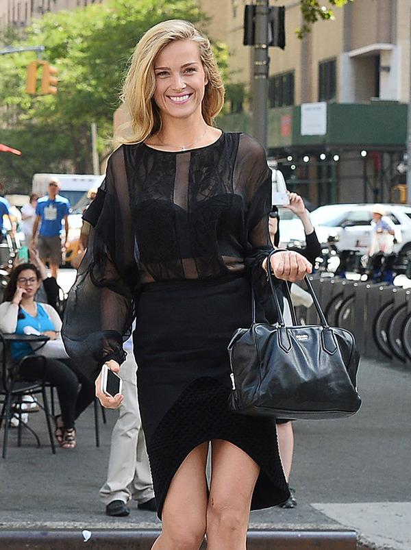 Petra Nemcova with Prada bag