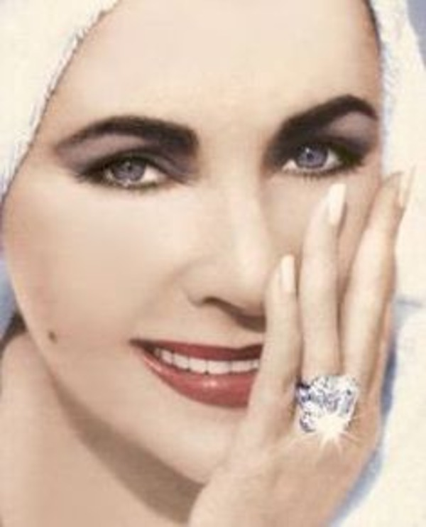 Elizabeth Taylor engagement ring - a gift from Richard Burton