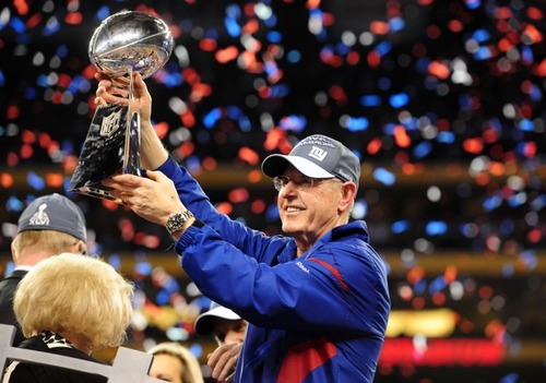 Tom Coughlin as Giants head coach