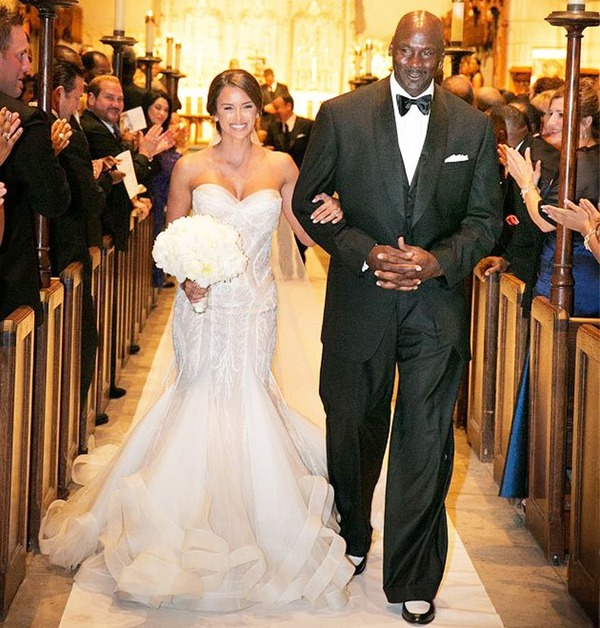 Michael Jordan and Yvette Prieto wedding