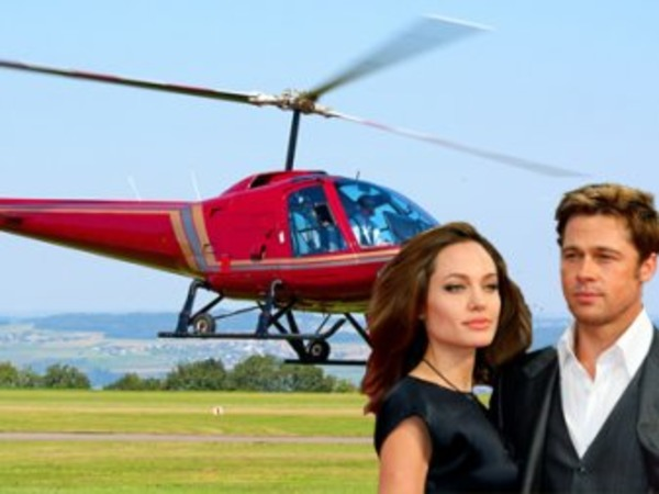 Jolie gave Pitt a helicopter