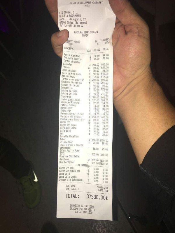 Messi's bill in euro