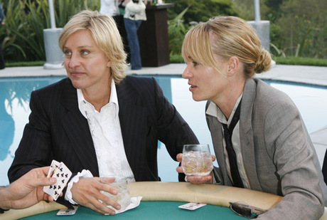 Portia de Rossi and Ellen DeGeneres Meeting