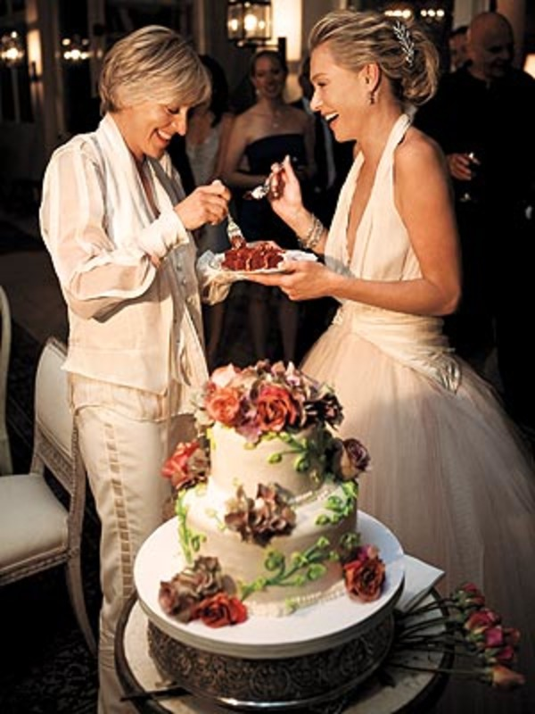 Portia de Rossi and Ellen DeGeneres wedding