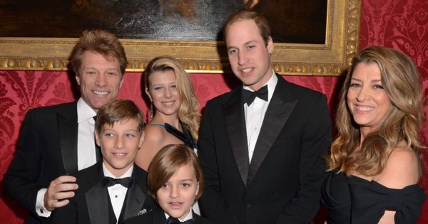 Jon Bon Jovi family and Prince William