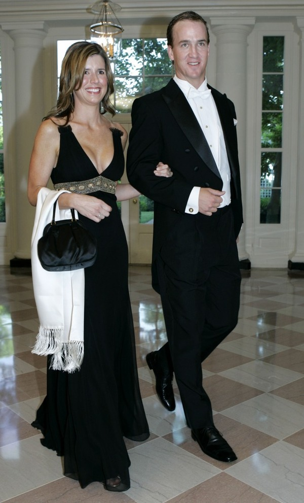 Ashley Thompson and Peyton Manning at State Dinner
