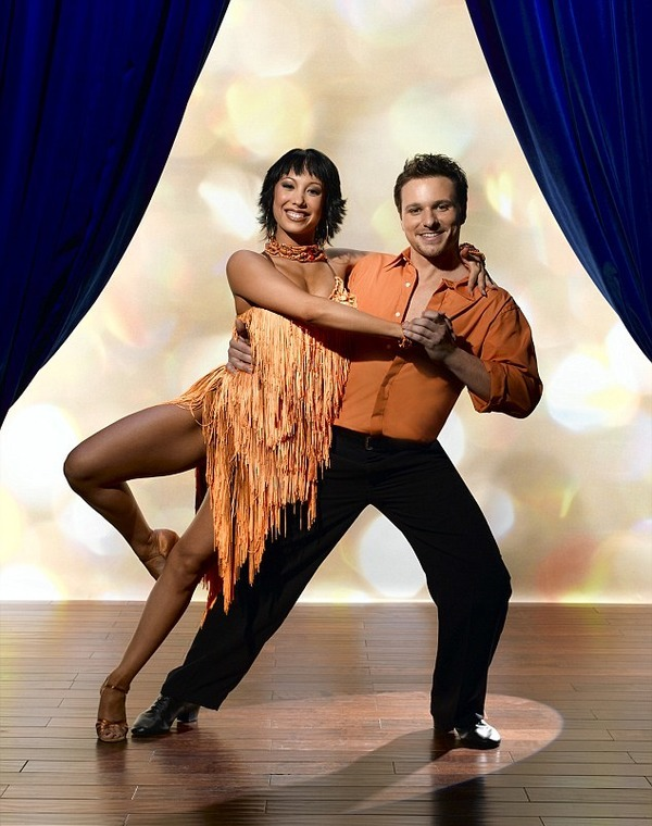 Cheryl Burke and her partner a singer Drew Lachey in DWTS