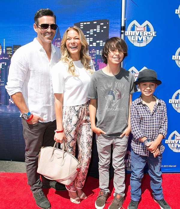 Eddie Cibrian, his wife LeAnn Rimes and his two sons
