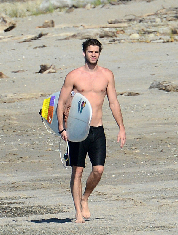 Liam Hemsworth is a great surfer