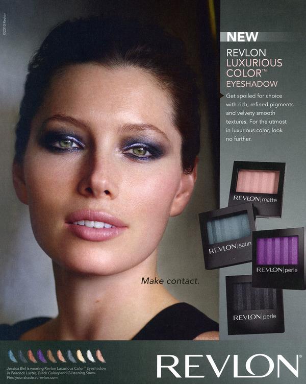 Jessica Biel in Revlon ads