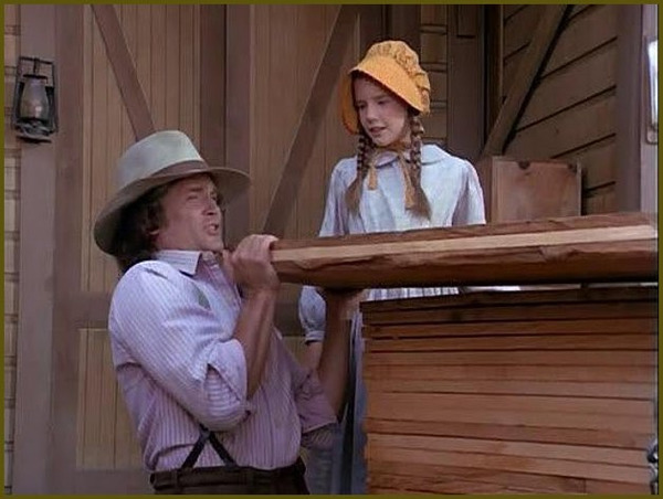 "Melissa Gilbert and Michael Landon in ""Little House on the Prairie"""