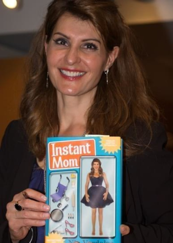 """Nia Vardalos with her book """"Instant Mom"""""""