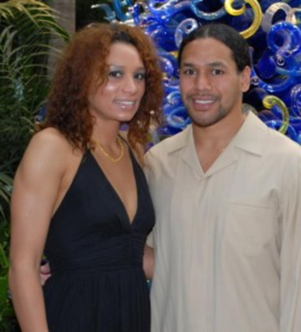Troy Polomalu and his wife Theodora