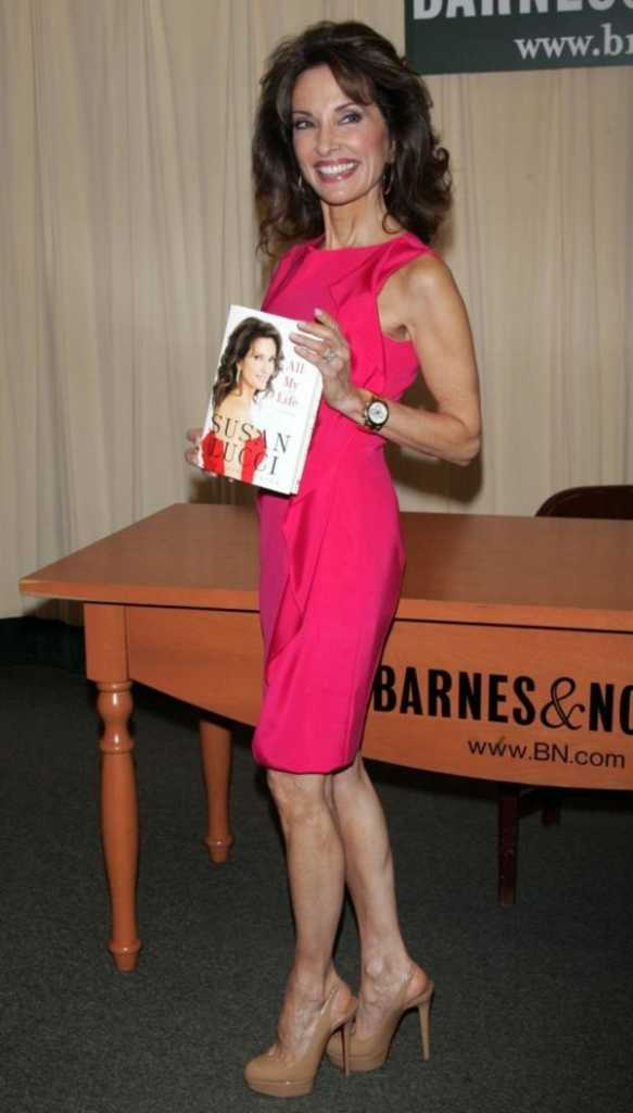 Susan Lucci with her book