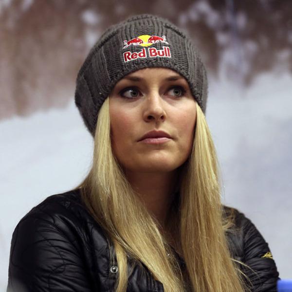 Lindsey Vonn endorses her sponsor Red Bull