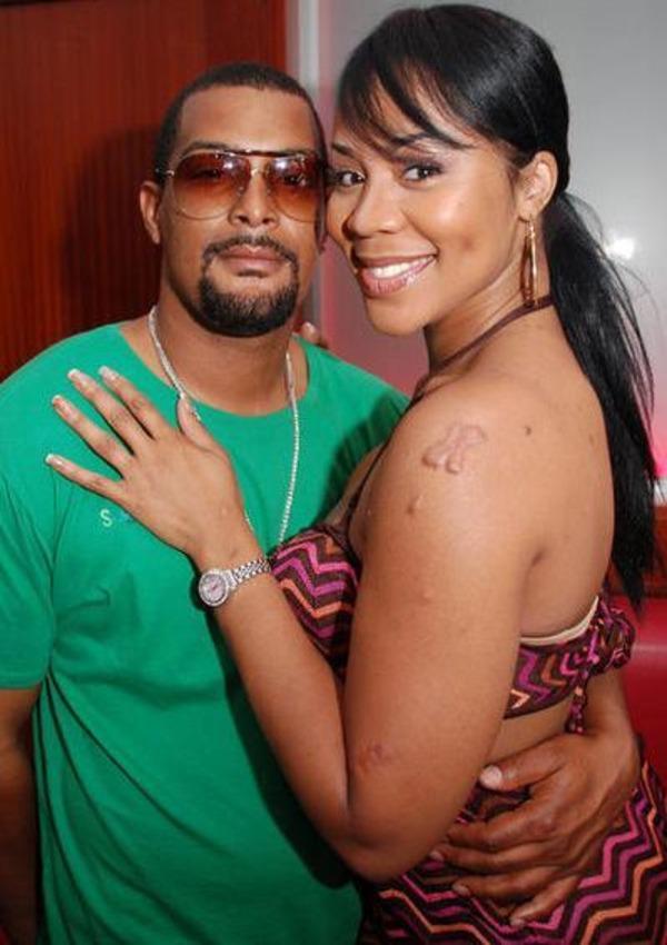Deelishis and her ex-hubby Orlando Gordon