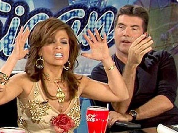 Paula Abdul and Simon Cowell at American Idol