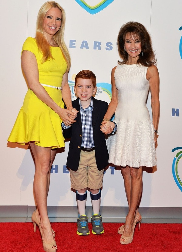Susan Lucci with her daughter Liza and gradnson Brendan