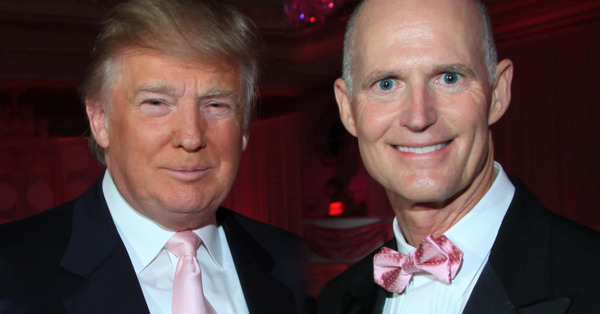 Rick Scott and his long-term friend Donald Trump