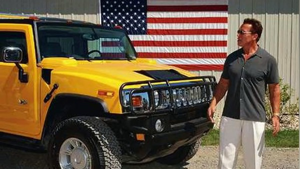 Arnold Schwarzenegger collection of Hummers
