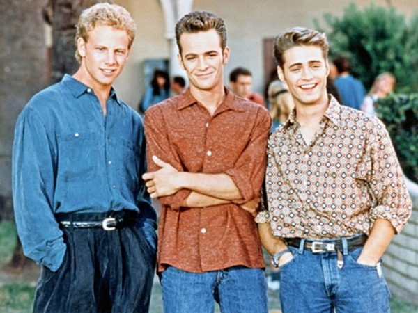 "Ian Ziering, Luke Perry and Jason Priestley in ""Beverly Hills"""