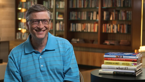 Bill Gates collects expensive books