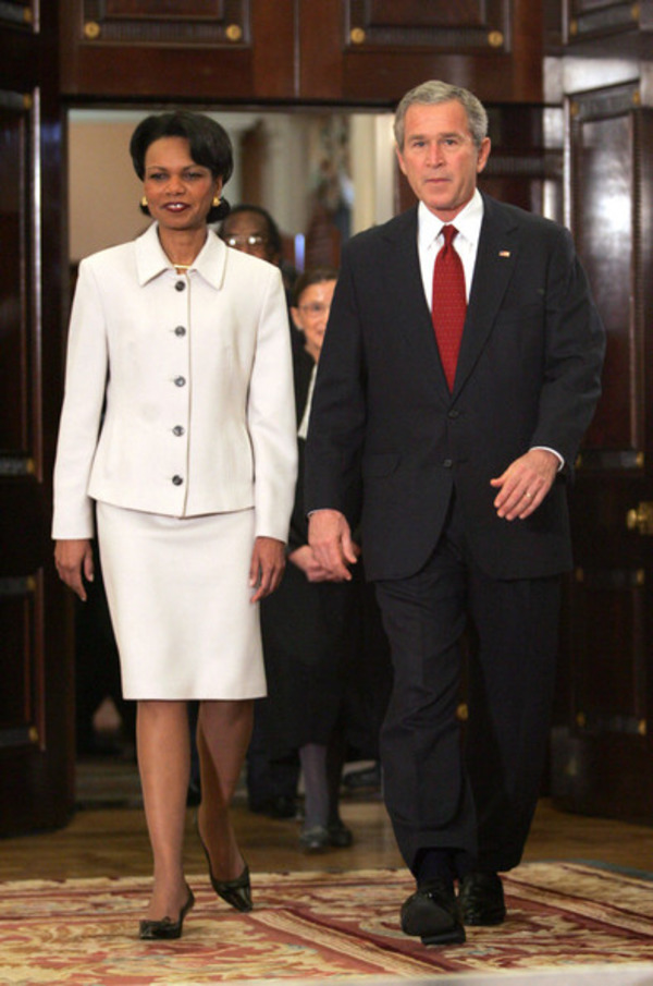 Condoleezza Rice and George W. Bush