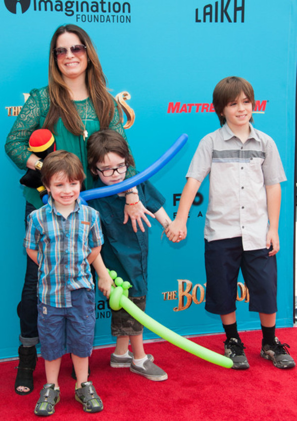 Holly Marie Combs and her sons