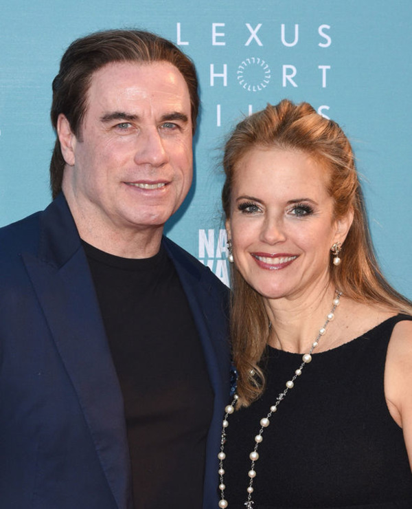 John Travolta and his wife Kelly Preston