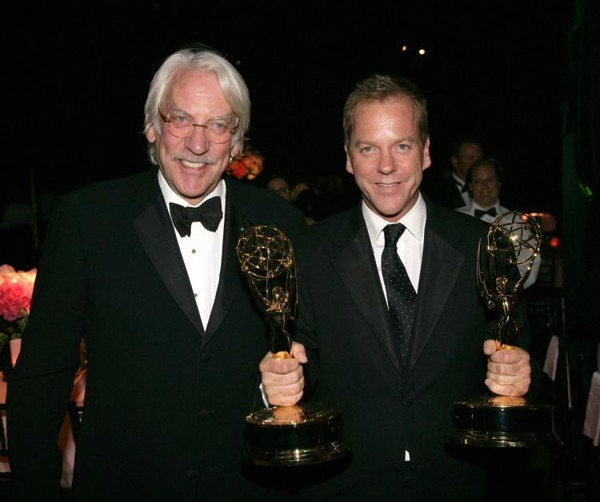 Kiefer Sutherland with his father Donald Sutherland