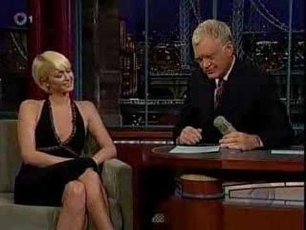 Paris Hilton at David Letterman show