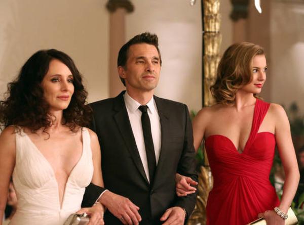 Madeleine Stowe, Olivier Martinez and Emily VanCamp in Revenge