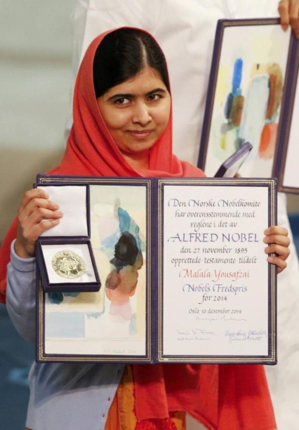 Malala Yousafzai gets her Nobel Peace Prize
